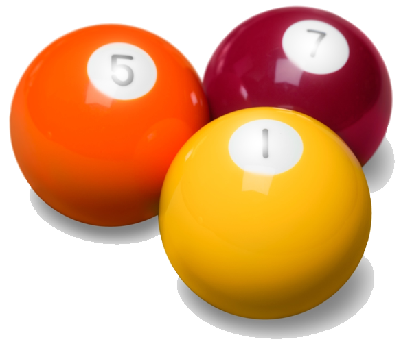 billiard balls, pool balls