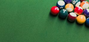 Billiards, pool table, billiard balls