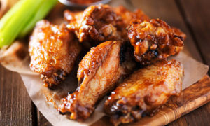 Chicken Wings, Celery Stick, BBQ Chicken Wings